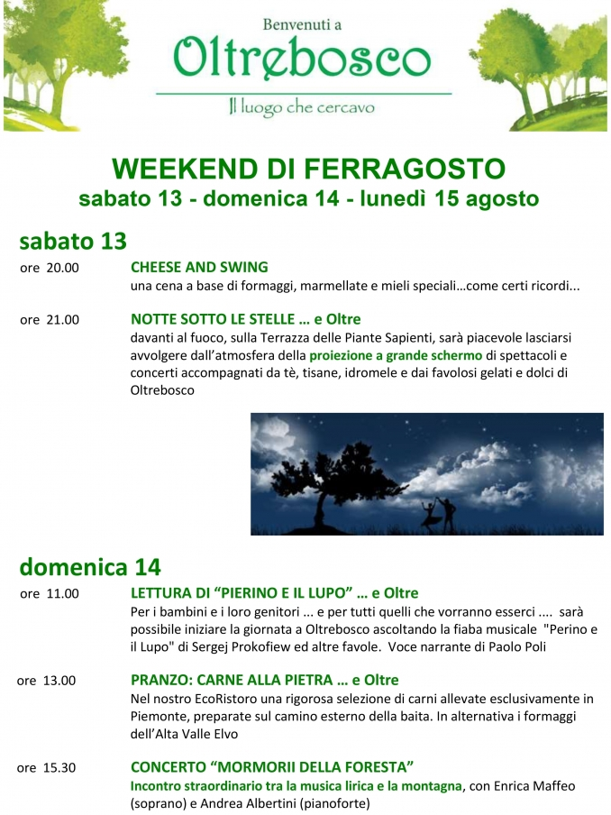 weekend di ferragosto - oltrebosco