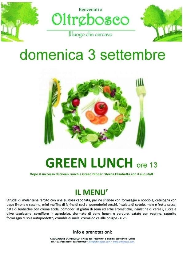 green lunch - oltrebosco